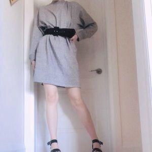 Heather Grey Sweater Dress from Uniqlo